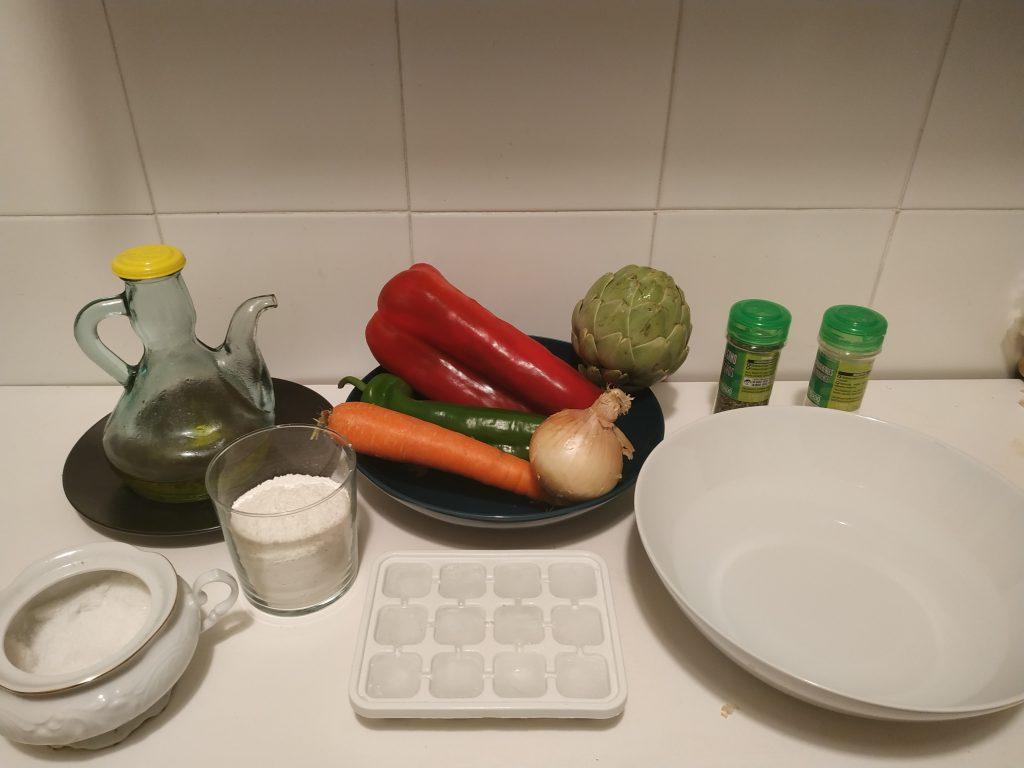 ingredients verdures en tempura