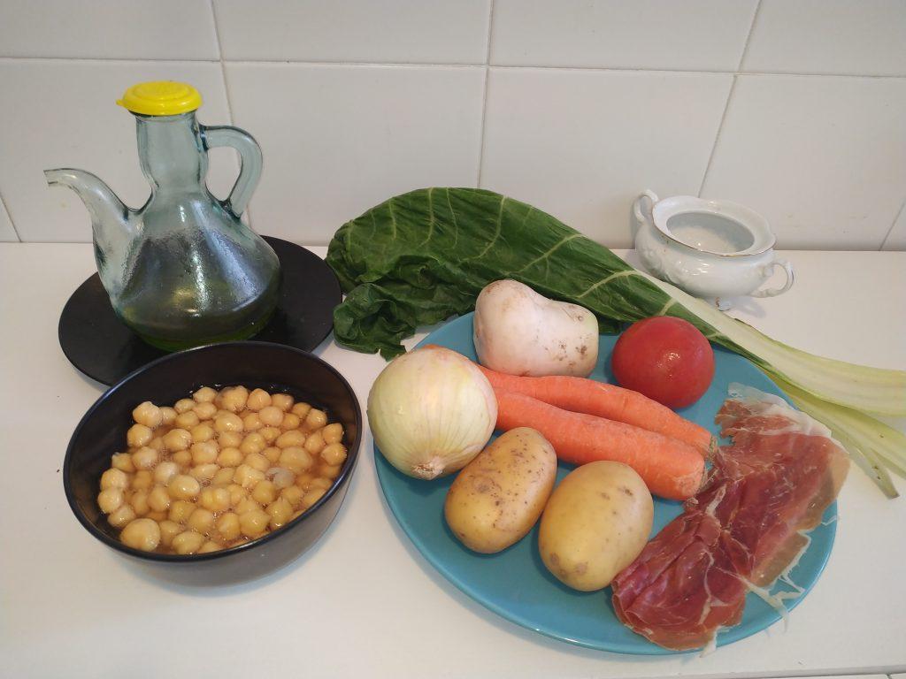 ingredients potatge cigrons i verdures