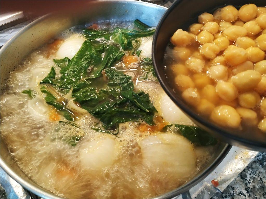 recepta potatge cigrons i verdures