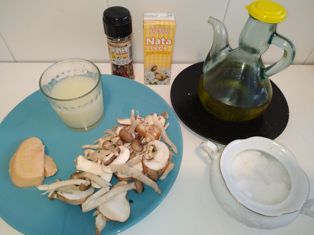 ingredients salsa de foié