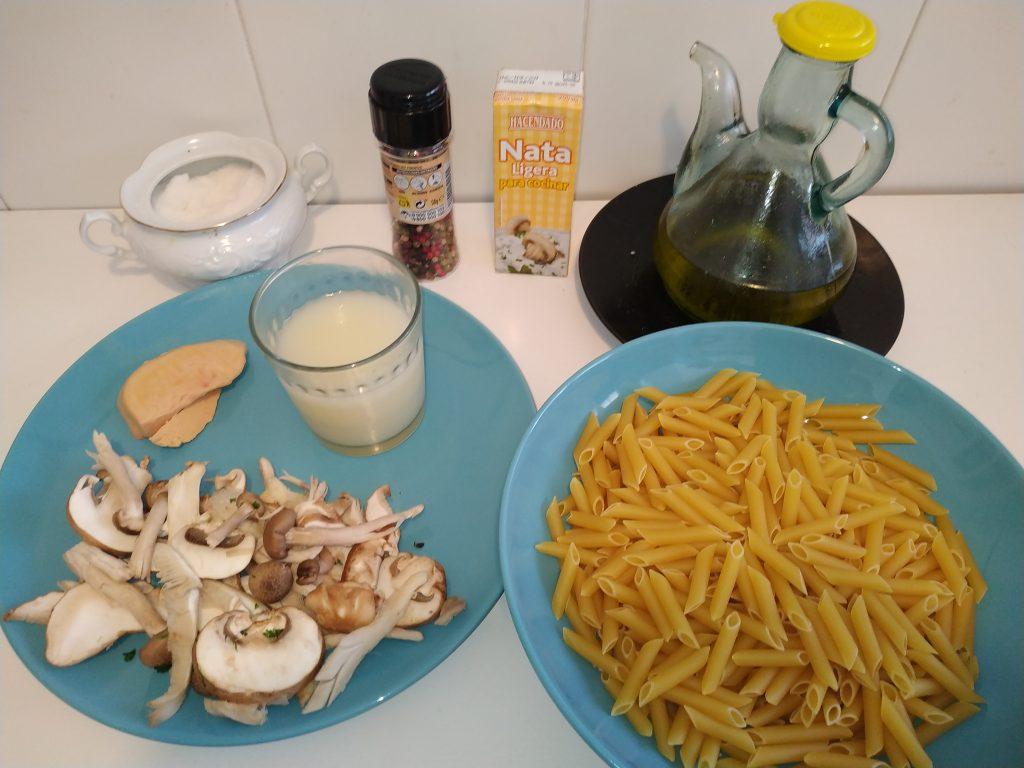 ingredients pasta amb salsa de foié