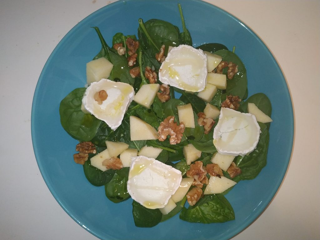 amanida espinacs i poma