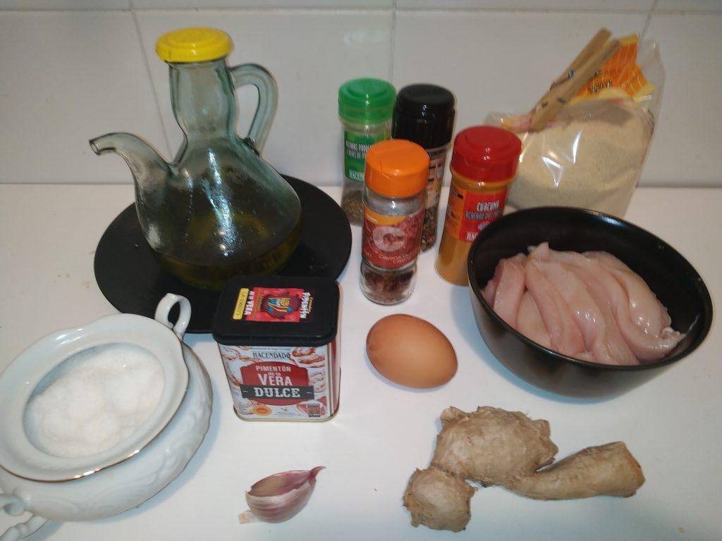 ingredients fingers pollastre