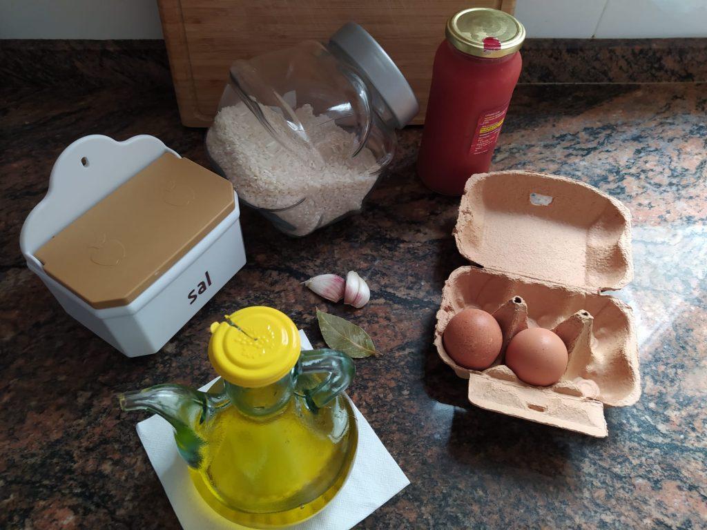 ingredients arròs a la cubana